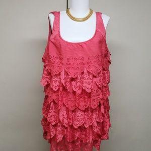 Ru apparel pink tank blouse. Size xl